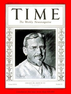 Cover story on Dr DeLee, May 1935